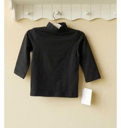 Mom and Bab Turtle Neck - Black - sadinashop.com  Kaos lengan panjang polos untuk bayi dan anak.
