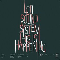 LCD Sound System This is Happening >> Poster