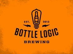 category: orange er staat een bottleinhet logo wat er goed bijpast want het bedrijf is bottle logic brewery