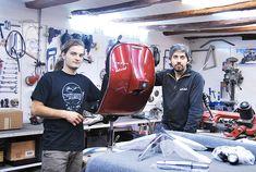 Viejas motos Vespa convertidas en modernas sillas de oficina