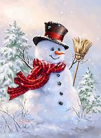 1415a - Birch Forest Snowman Broom.jpg   Gelsinger Licensing Group