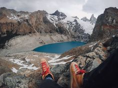 Photo of the Day! Nancy Gonzalez earned this beautiful view of Los Lagos Tres in Patagonia, Argentina after a long hike up, but it was well worth it.  PROTECT YOUR GoPro® CAMERA & ACCESSORIES, WITH STYLE: PBJ Essentials GoPro Case: http://amzn.to/1OM8kiY