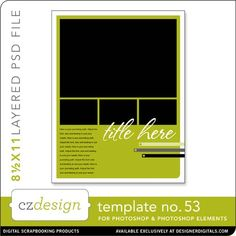 Cathy Zielske's Layered Template No. 053 - Digital Scrapbooking Templates