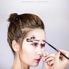 OFF Adjustable Eyebrow Shapes Stencil - Augen-Make-up - Eye-Makeup Beauty Skin, Beauty Makeup, Hair Makeup, Hair Beauty, Makeup Inspo, Makeup Inspiration, Permanent Makeup Eyebrows, Eyebrow Makeup, Makeup Contouring