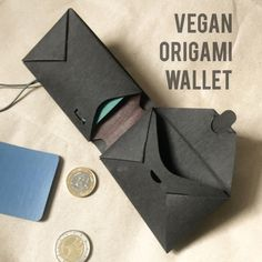 """liaform hat has created a collection of small-sized purses. Inspired by the traditional Japanese origami technique, the purses are individually folded by hand from a piece of durable and washable """"pap Origami Wallet, Origami Star Box, Origami Envelope, Origami And Kirigami, Origami Fish, Origami Love, Origami Paper Art, Origami Stars, Paper Crafts"""