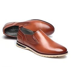 1fd771eaa281 Men Leather Shoes Business Outdoor Slip On Oxfords - US 43.89 Mens Business  Casual Shoes