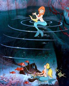 Peter Pan Mermaid Lagoon Animation Still Disney Kunst, Arte Disney, Disney Magic, Disney Art, Peter Pan Mermaids, Real Mermaids, Mermaids And Mermen, Mermaid Lagoon, Mermaid Art