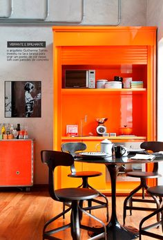 like the orange alot, but being a little bit more rustic would be cool too!