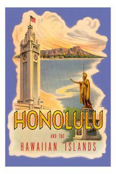 Vintage Hawaii Posters, Vintage Hawaiian Posters, Vintage Hawaii Decor