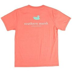 Southern Marsh Authentic Tee in Coral (Medium, Coral)