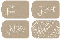 Whether you buy them or make them, these would add a lovely handmade quality to your gifts. Calligraphy gift tags and more | How About Orange