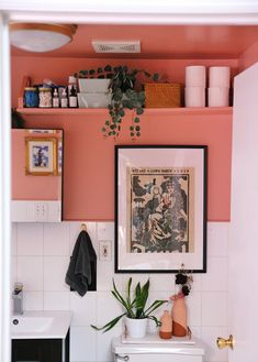Jazz Age Lawn Party, Room Interior, Interior Design, Bold Wallpaper, Painting Trim, Flat Ideas, Laundry In Bathroom, Bathroom Storage, Bathroom Ideas