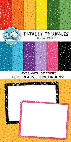 Clip Art: Totally Triangles Digital Papers for Personal and Commercial Use $