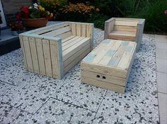 DIY Pallet Outdoor Furniture