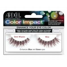 6042534609f (3 Pack) ARDELL Color Impact False Lashes - Wine Demi Wispies ** Continue
