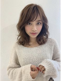Fairy Hair, Brunette Hair, Perm, Hair Inspo, Asian Beauty, Bangs, Salons, Short Hair Styles, Hair Beauty