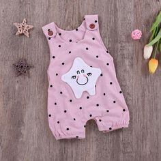 Popular Trendy Summer Toddler Baby Boys Clothes Star Print Romper Jumpsuit Daily