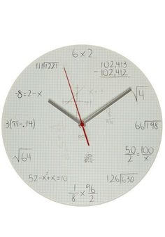 """Quiz your friends by reading the time as """"the square root of 64 hours and 198 divided by 66 minutes,"""" instead of just """"8:15."""""""