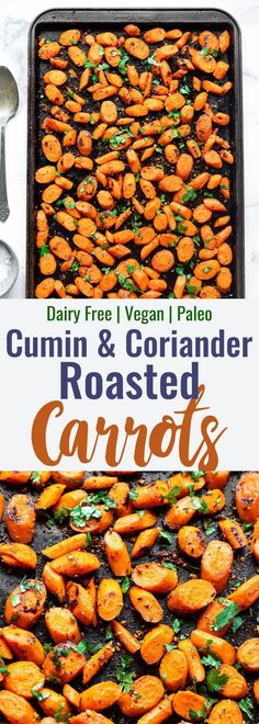 Cumin Roasted Carrots - These easy Roasted Carrots are roasted in coconut oil and delicious spices for an easy, healthy side dish that is naturally gluten free, vegan and paleo! Paleo Recipes Easy, Healthy Low Carb Recipes, Healthy Recipe Videos, Healthy Sides, Healthy Side Dishes, Clean Eating Recipes, Side Dish Recipes, Whole Food Recipes, Vegetarian Recipes