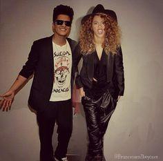 Bruno Mars and Beyonce