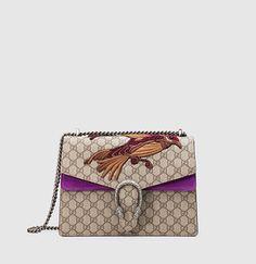 Gucci - dionysus gg supreme canvas embroidered shoulder bag 400235KHNUN8789