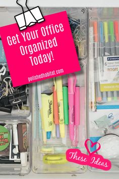 How to Organize a Home Office - Polished Habitat Office Drawer Organization, File Organization, Closet Office, Outlines, Office Ideas, Decorating Tips, Filing Cabinet, Magazines, Organize