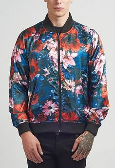 Criminal Damage Jacket - Frisco Reversible Bomber Multi - BTJ109724MUL