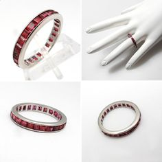 Natural Ruby Eternity Wedding Rings - The Wedding Specialists