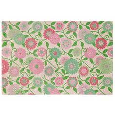 Pink Hello Mums Rug. Love this for a little girls' room!!