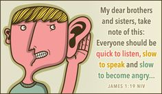 Free James 1:19 NIV eCard - eMail Free Personalized Scripture Cards Online