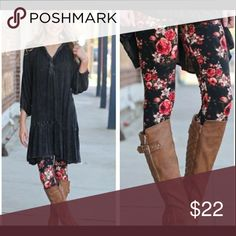 ‼️PLUS‼️🆕 Floral print leggings Floral print leggings, these are plus size,(fits 12-18 comfortably) Very soft and comfortable. Pants Leggings