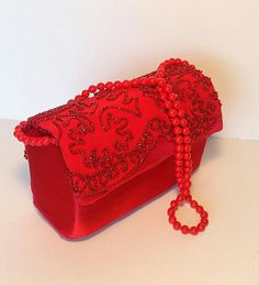 Little Red Dress Satin Clutch Purse by EnviroclecticDesigns, $60.00