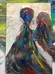 Monotype Colorful Bird and pattern by artworkbymarita on Etsy Art