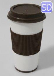 Copo Coffee em PVC c/ tampa