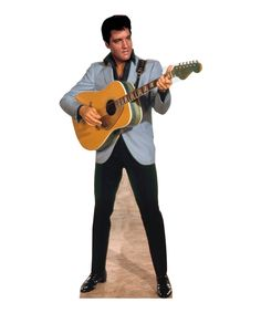 Light Blue Jacket Elvis Cardboard Standup