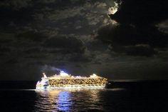 Nightfall on Royal Caribbean