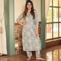 Kurtis & Kurtas Women's Printed Cotton Kurta with Palazzos Fabric: Kurti- Cotton Palazzo- Cotton Sleeves:  Sleeves Are Included Size: Kurti : M - 38 in L - 40 in XL - 42 in XXL - 44 in 3XL- 46 in  Palazzo : M - 30 in L - 32 in XL - 34 in XXL - 36 in 3XL- 38 in  Length: Kurti - Up To 46 in Palazzo - Up To 40 in Type: Stitched Description: It Has 1 Piece Of Women's Kurti & 1 Piece Of Palazzo  Work : Kurti - Printed Palazzo - Printed Country of Origin: India Sizes Available: S, M, L, XL, XXL, XXXL *Proof of Safe Delivery! Click to know on Safety Standards of Delivery Partners- https://ltl.sh/y_nZrAV3  Catalog Rating: ★4.2 (136)  Catalog Name: Women's Printed Cotton Kurtis CatalogID_327874 C74-SC1001 Code: 545-2445717-