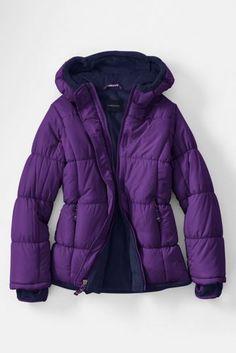 Girls Fleece Lined Puffer Jacket from Lands' End