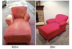 Make your old furniture look new again with Upholstery Fabric Paint! Available for purchase at www.sprayitnew.com