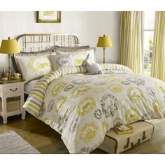 """Kirstie Allsopp """"NEW"""" Cecile buttercup bedding from £10.80 Helps put a Spring in your step #darlobiz #iLoveDn www.thecurtainbar.com"""