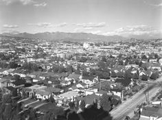 A view of Hollywood looking northeast from the corner of Rossmore Avenue and Rosewood Avenue (1924).