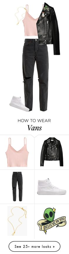 """""""S2E9"""" by argentomybaby on Polyvore featuring H&M, RE/DONE, Vans, Yves Saint Laurent, cutekawaii and J.Crew"""