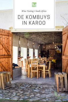 Who knew you could find superb wines and wagyu beef in Oudtshoorn, Klein Karoo, South Africa? Be sure to stop at De Kombuys on way to the Cango Caves. Visit South Africa, Wagyu Beef, Caves, Cape Town, Wine Tasting, Places To See, Pergola, Outdoor Structures, Table Decorations