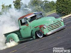 1951 Chevrolet 3100 Burnout