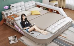Cool Beds and Expand Furniture Space Saving Ideas — Awesome Gifts TV Expand Furniture, Smart Furniture, Furniture Stores, Furniture Ideas, Furniture Design, Awesome Bedrooms, Cool Rooms, Coolest Bedrooms, Couch Bed Combo