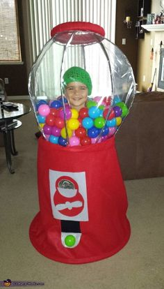 Halloween DIY Gumball Machine Costume - Revamperate