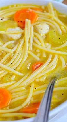 Homemade Chicken Noodle Soup 2 Nov. 2014, Got the urge for some great old-fashioned soup and this fit the bill. I did the recipe exactly as is except for the noodles. I used large egg noodles. Great comfort food and I will definitely make it again. More
