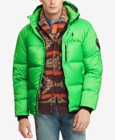5303e8a1009e Polo Ralph Lauren Men s Great Outdoors Repellent Down Coat - Neon Green M  Green Coat