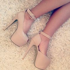 """In the """"nude"""" heels <3"""
