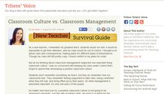 Classroom Culture vs. Classroom Management (teachingchannel.org)